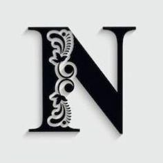 Letter N, Alphabet Letters, 3d Pen, Silhouette Vinyl, Stencil Painting, Painted Furniture, Hand Lettering, Stencils, Illustration Art