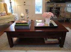 coffee table top decorating
