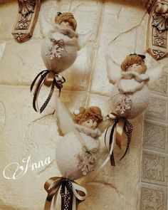 Christmas Angels, Christmas Crafts, Christmas Ornaments, Sewing Projects, Projects To Try, Angel Crafts, Tooth Fairy, Diy Doll, Gnomes