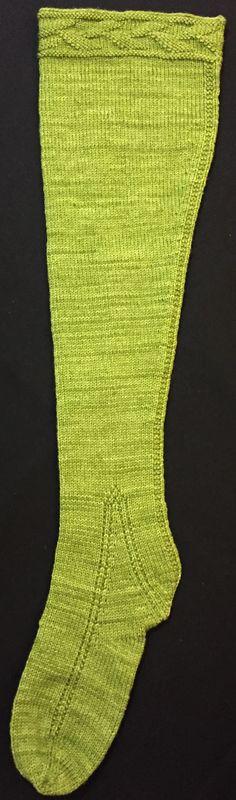 KNITTING PATTERN--16th Century Woolen Stocking