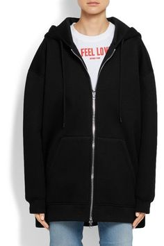 Givenchy   Oversized printed neoprene hooded top   NET-A-PORTER.COM