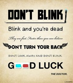 #DrWho Quotes (#WeepingAngels)
