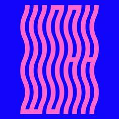 """WOAH"" Wave Typography de brianbiles Experimental typography"