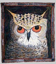 Owl: Louisa Creed rag rug