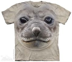 Big Face Seal T-Shirt at theBIGzoo.com, an animal-themed store established in August 2000.