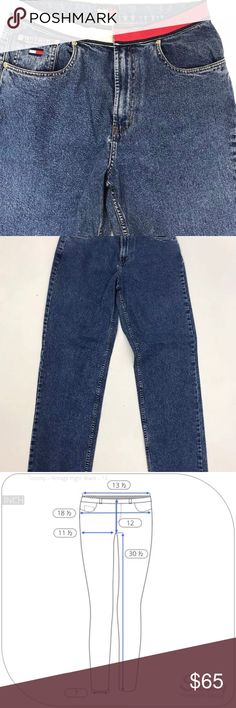 Tommy Hilfiger 12 Mom High Waisted Jeans Vtg 90s Tommy Hilfiger 12 Mom High Waisted Jeans Vtg 90s Tapered Leg Excellent Tommy Hilfiger Jeans Straight Leg