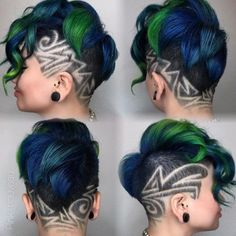 Hairstyles and Beauty: The Internet`s best hairstyles, fashion and makeup pics are here. Shaved Side Hairstyles, Undercut Hairstyles, Cool Hairstyles, Haare Tattoo Designs, Short Hair Cuts, Short Hair Styles, Undercut Hair Designs, Undercut Long Hair, Shaved Hair Designs