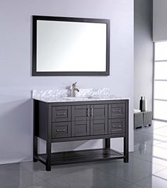 48 Inch Single Sink Espresso Modern Bathroom Vanity with FREE Mirror and FREE Faucet MTD Vanities http://www.amazon.com/dp/B00TT9N1HC/ref=cm_sw_r_pi_dp_ae9jvb12H1411