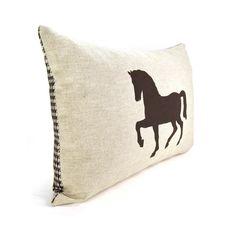 horse pillow- ClassicByNature etsy