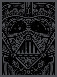 'Dios De Los Muerte', Darth Vader Sugar Skull Art.