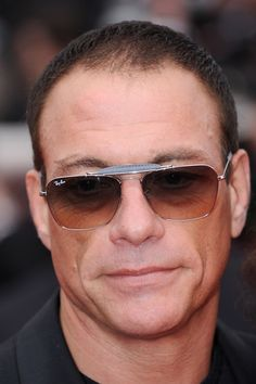 Jean-Claude Van Damme Square Sunglasses - Jean walked the red carpet at the 'Robin Hood' premiere wearing square shades.