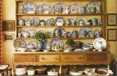 "It just makes my knees weak... Antique pine welsh dresser with 4 drawers & pot board. Via ""Cote de Texas"""