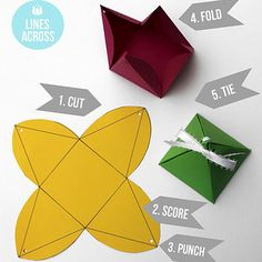 Create a pyramid shape for impossible-to-wrap objects. | 13 Beautifully Easy Gift Wrapping Ideas