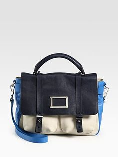 Marc by Marc Jacobs Werdie Colorblocked Top-Handle Messenger Bag...So this is the color I want. <333