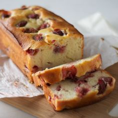 | Strawberry Loaf Cake | Source: Pixels + Crumbs | Status: Tried it and replaced it with wheat flour & brown sugar |