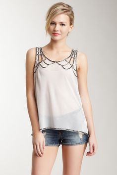 $35 Willow & Clay Sequin Yoke Top by On The Bright Side on @HauteLook
