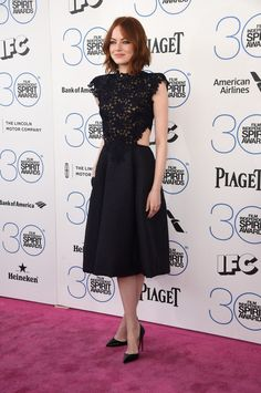 Emma Stone | All The Looks From The 2015 Independent Spirit Awards