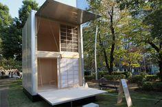konstantin grcic muji hut midtown garden tokyo design week 2015 designboom
