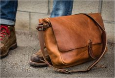 Vintage messenger bag by Whipping Post