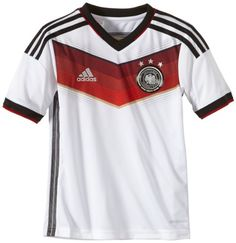 adidas Kinder Kurzärmliges Heimtrikot DFB Home Jersey, White/Black/Victory Red/Matte Silver, 140, G75073 | Your #1 Source for Sporting Goods...