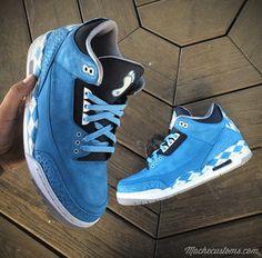 "Air Jordan III ""Argyle UNC Custom"""