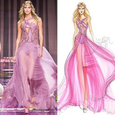 Fashion эскизы и технический рисунок одежды