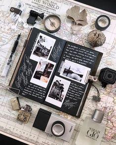 Trendy Creative Art Journal Pages Smash Book Ideas Bullet Journal Themes, Bullet Journal Inspiration, Scrapbook Journal, Travel Scrapbook, Diy Scrapbook, Photo Album Scrapbooking, Scrapbooking Layouts, Scrapbook Paper Art, Picture Scrapbook