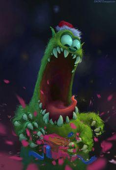 Zac Retz Art - Christmas Grinch Monster