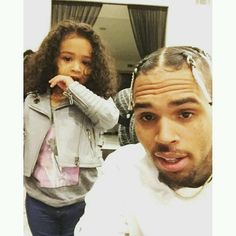 Chris Brown celebrates his birthday with his daughter Royalty