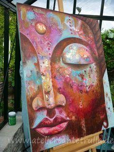Art - Painting - Studio Aunt Trulla - Studio Aunt Trulla - Art - Painting Source by Buddha Wall Art, Buddha Painting, Buddha Drawing, Painting Studio, Yoga Art, Zen Art, Indian Paintings, Painting Inspiration, Art Drawings