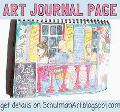 art journal page | art journal idea | http://schulmanart.blogspot.com/2015/09/an-art-journal-in-search-of-happiness.html