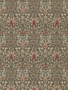 Snakeshead Charcoal/Spice tapet från William Morris® - Fraktfritt o.