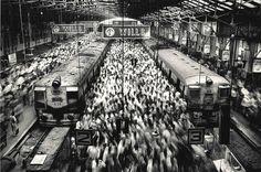 Sebastião Salgado, Churchgate Station, Western Railroad Line, Bombay, India, 1995  on ArtStack #sebastiao-salgado #art