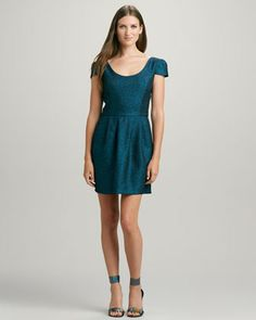 Amanda Uprichard Loves Cusp Hillary Shimmery Brocade Dress - Neiman Marcus