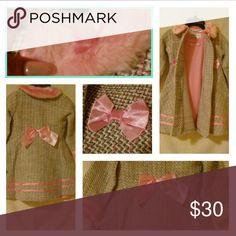 🌟 Final Price🌟Little Divas Dinner Coat & Dress Baby Pink & Grey Coat Blueber: boul evard Dresses Casual