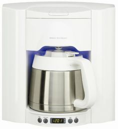 Brew Express 10 Cup Built-In Self-Filling Coffee and Hot Beverage System Finish: White Coffee Maker Reviews, Best Coffee Maker, French Press Coffee Maker, Drip Coffee Maker, Small Kitchen Appliances, Cool Kitchens, Kitchen Small, Kitchen Stuff, Wine Decanter Set