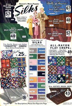 Fabrics, 1936 {Wearing History Blog}