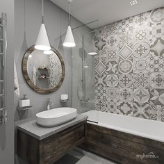 37 Popular Moroccan Bathroom Design Ideas You Will Love - The Moroccan approach to bathing takes the idea of bathroom design to another level. Communal bathing in neighbourhood hammams turned the concept of t. Grey Bathrooms Designs, Bathroom Tile Designs, Bathroom Designs Images, Bathroom Interior Design, Modern Master Bathroom, Small Bathroom, Neutral Bathroom, Morrocan Bathroom, Budget Bathroom