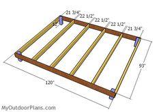 Building the chicken coop floor frame