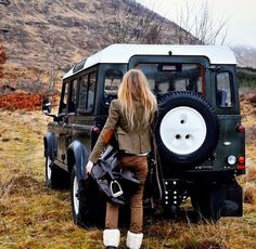 Land Rover Defender 110 Epson green..I love the...lifestyle girl Landy