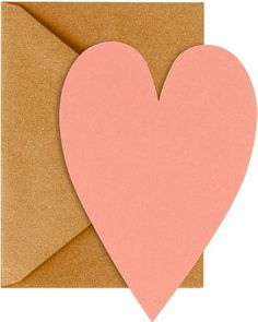 Scribble sweet nothings on this pretty stationery. The die-cut heart cards set the perfect tone for your Valentine. Cards are made from recycled paper.<br><br>10 - 3 1/2 4 7/8 coral heart cards<br>1 Funny Cards, Cute Cards, Valentine Day Gifts, Valentines, Valentine Cards, Happy Hearts Day, Gold Envelopes, Diy Garland, Paper Source