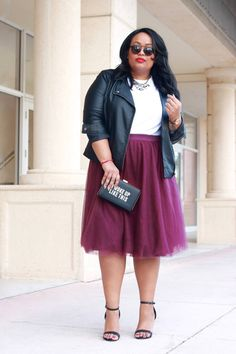 Plus Size Fashion for Women - Plus Size Outfit - Plus Size Tulle Skirt