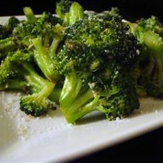 I have always thought of broccoli as a boring side dish...not anymore! Try this Brilliant Sauteed Broccli rec.   You can have it cooled and set asside untill you are ready to fry and serve.  Makes the dinner rush while entertaining, easy.