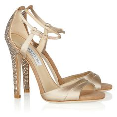Jimmy Choo Bridal Shoes Tema Crystal-embellished Nude