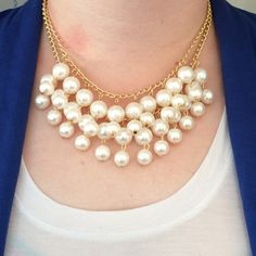 Chunky Pearl Statement Necklace NWOT beautiful pearl necklace. It is a stunning peace and will make any outfit look great. Jewelry Necklaces