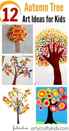 Arty Crafty Kids 12 Autumn Tree Art Ideas For Kids 12 Beautiful And Achievable Autumn Crafts For Toddlers, Preschoolers And Young Children Autumn Activities For Kids, Fall Crafts For Kids, Art Activities, Toddler Crafts, Art For Kids, Autumn Art Ideas For Kids, Kids Crafts, Kid Art, Summer Crafts
