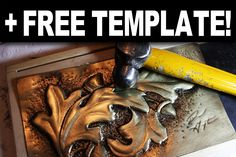 How to do repousse the EASY and cheap way. Also a free template with dozens of designs!