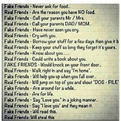 Friends... real or fake