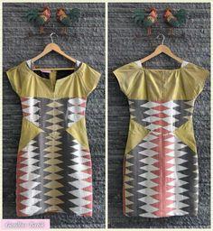 Rang-rang woven dress by Amelia Gendhis
