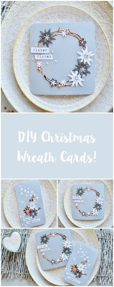 All your friends and family will be amazed at these pretty Christmas cards!- All your friends and family will be amazed at these pretty Christmas cards! Christmas Card Crafts, Homemade Christmas Cards, Handmade Christmas Decorations, Christmas Cards To Make, Noel Christmas, Homemade Cards, Holiday Cards, Christmas Abbott, Christmas Movies